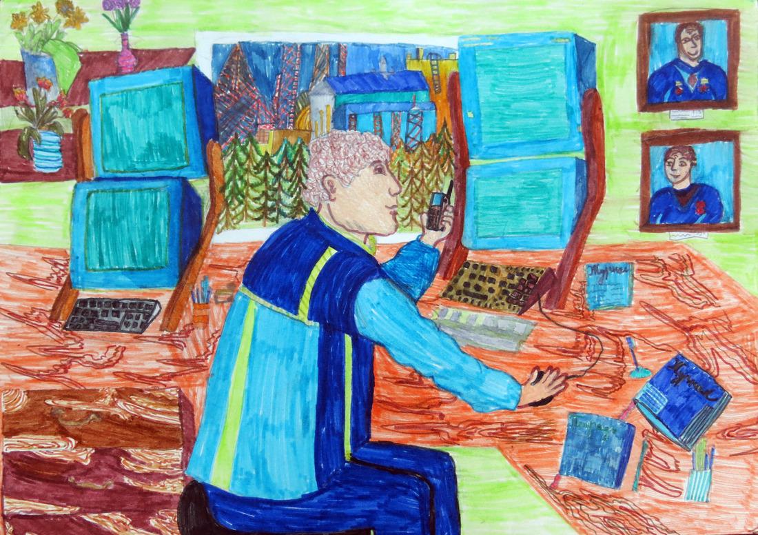 Картинки папа на работе нарисованные